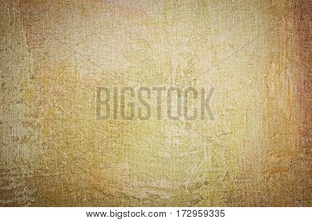 Old sepia fabric texture background. Copy space for text or image.