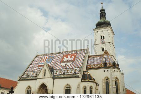 Church of Saint Mark in Zagreb, Croatia