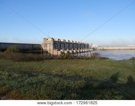 The Lindy C. Boggs Lock and Dam is near Marksville, Louisiana on the Red River.