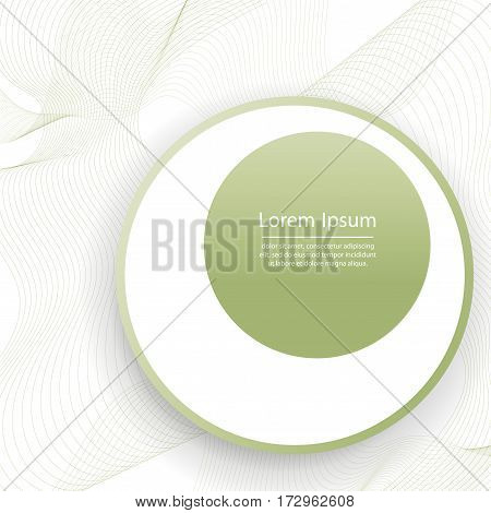 Abstract wave isolated on white background. Vector illustration for modern business design.