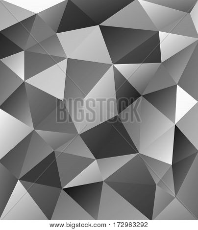 Geometric silver pattern. Abstract ornament for wallpapers and backgrounds