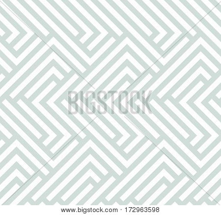 Seamless geometric pattern for your designs and backgrpounds. Modern ornament with repeating elements. Light blue pattern