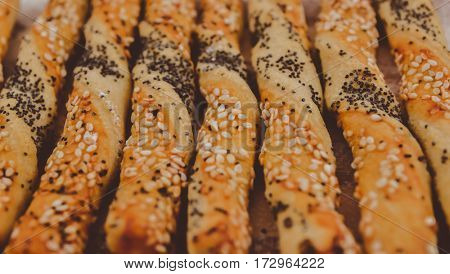 begel with sesame and flax