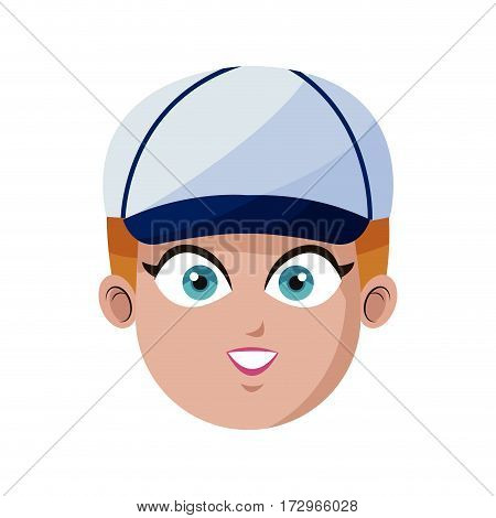 handsome young man with baseball hat icon image vector illustration design