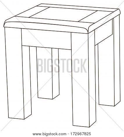 Vector illustration of the simple backless stool