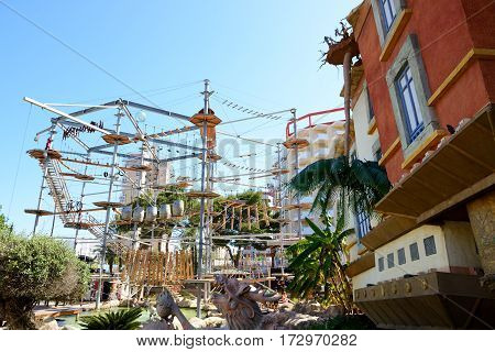 MALLORCA SPAIN - MAY 28: The Katmandu Amusement Park on May 28 2015 in Mallorca Spain. Up to 60 mln tourists is expected to visit Spain in year 2015.