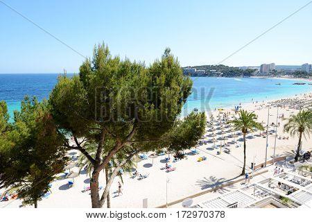 The sea view and beach Mallorca Spain