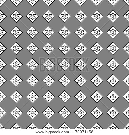 seamless pattern of geometric shapes on a dark background