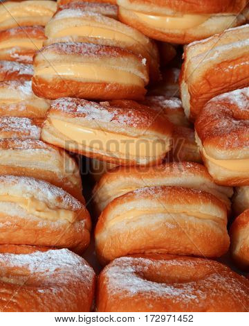 Donuts In A Pastry With Custard