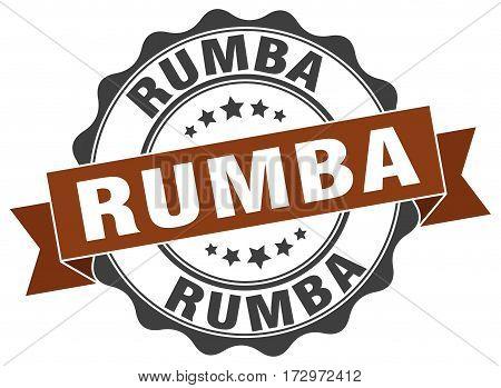 rumba. stamp. sign. seal. round. retro. ribbon