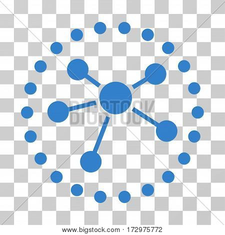 Links Diagram vector icon. Illustration style is flat iconic cobalt symbol on a transparent background.