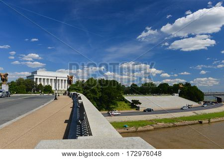 Washington DC in spring time - Lincoln Memorial