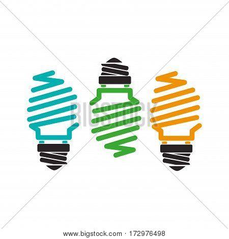 saving bulb isolated icon vector illustration design