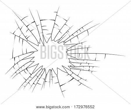 Broken Glass Silhouette Vector Symbol Icon Design. Beautiful Illustration Isolated On White Backgrou