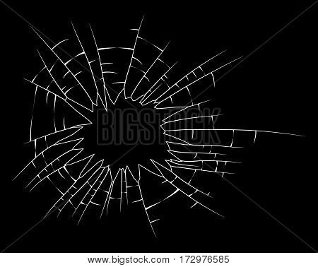 Broken Glass Silhouette Vector Symbol Icon Design.
