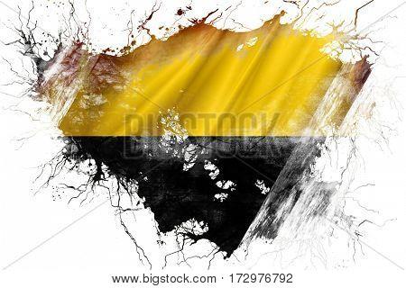 Grunge old Saxony Anhalt, Sachsen Anhalt flag