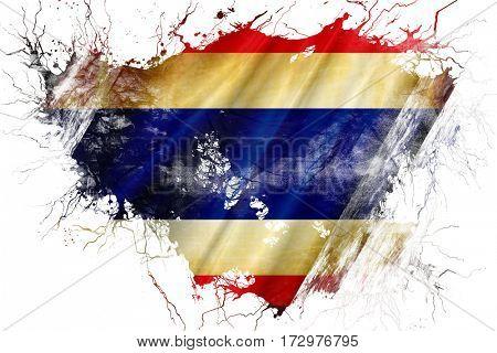 Grunge old Thailand  flag