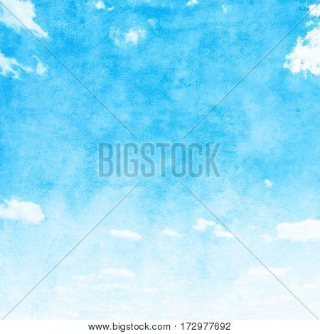 Grunge blue sky background.