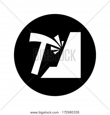 mining pick isolated icon vector illustration design
