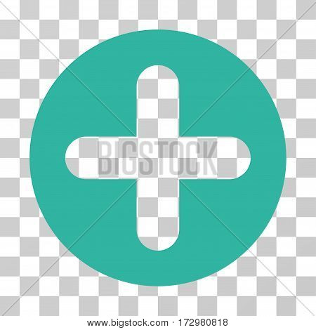 Create vector pictograph. Illustration style is flat iconic cyan symbol on a transparent background.