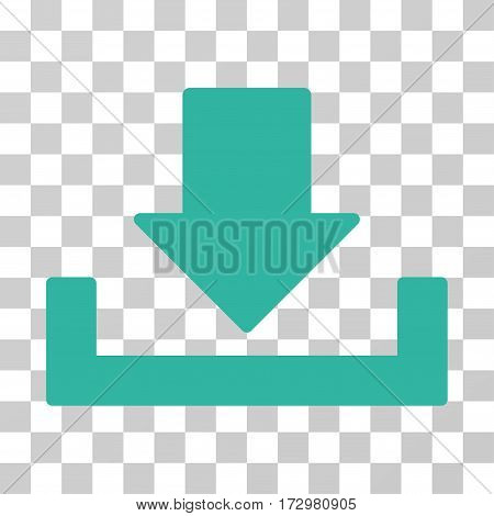 Download vector icon. Illustration style is flat iconic cyan symbol on a transparent background.