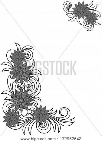 Floral Stencils Over White