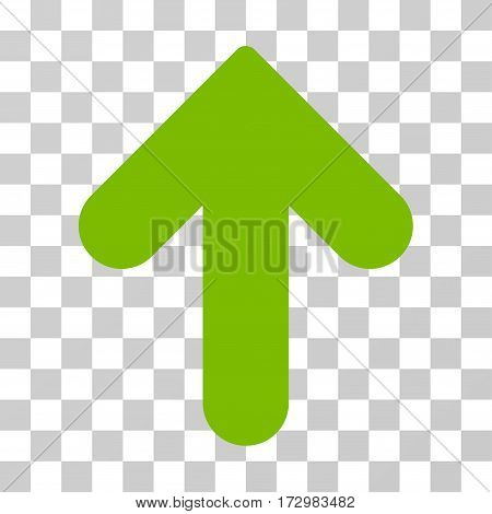Arrow Up vector pictograph. Illustration style is flat iconic eco green symbol on a transparent background.
