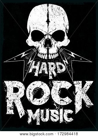 Rock Star poster vintage rock and roll typographic for t-shirt tee design vector illustration