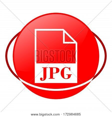Red icon, jpg file vector illustration on white background