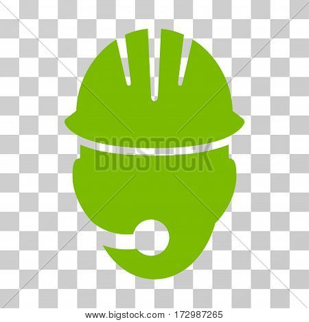 Industrial Operator vector pictograph. Illustration style is flat iconic eco green symbol on a transparent background.