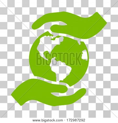 International Care vector pictogram. Illustration style is flat iconic eco green symbol on a transparent background.