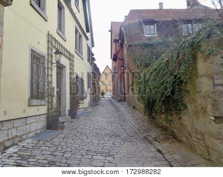 Old vintage back road somewhere in Rothemburg
