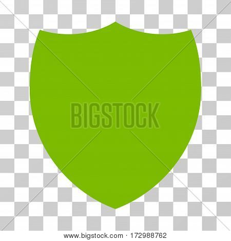Shield vector pictograph. Illustration style is flat iconic eco green symbol on a transparent background.