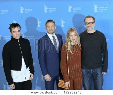 Robert Pattinson, Charlie Hunnam, Sienna Miller, James Gray attend the 'The Lost City of Z' photo call during the 67th Film Festival Berlin at Hyatt Hotel on February 14, 2017 in Berlin, Germany.