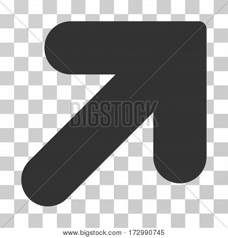 Arrow Up Right vector icon. Illustration style is flat iconic gray symbol on a transparent background.