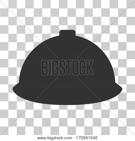Builder Helmet vector icon. Illustration style is flat iconic gray symbol on a transparent background.