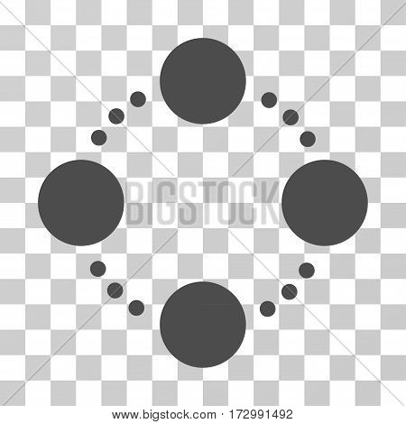 Circular Relations vector pictograph. Illustration style is flat iconic gray symbol on a transparent background.