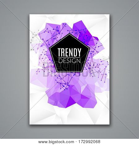 Cover Report Business Colorful Triangle Polygonal Geometric pattern Design Background, Cover Magazine, Brochure Book Cover Template, vector illustration.