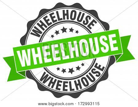 wheelhouse. stamp. sign. seal. round. retro. ribbon