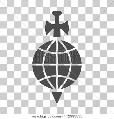 Global Guard vector pictograph. Illustration style is flat iconic gray symbol on a transparent background.