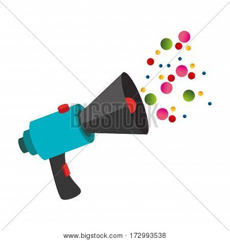 megaphone with message icon vector illustration design