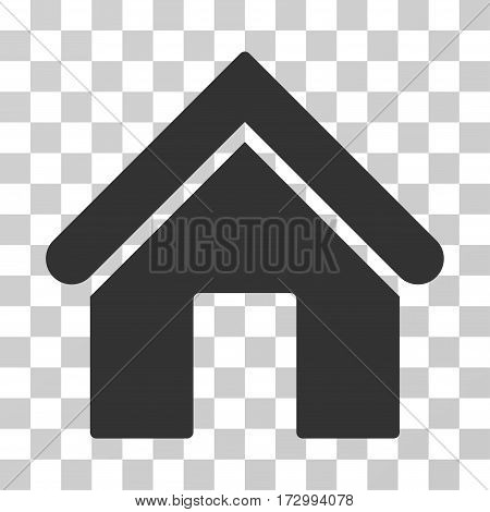 Home vector pictograph. Illustration style is flat iconic gray symbol on a transparent background.