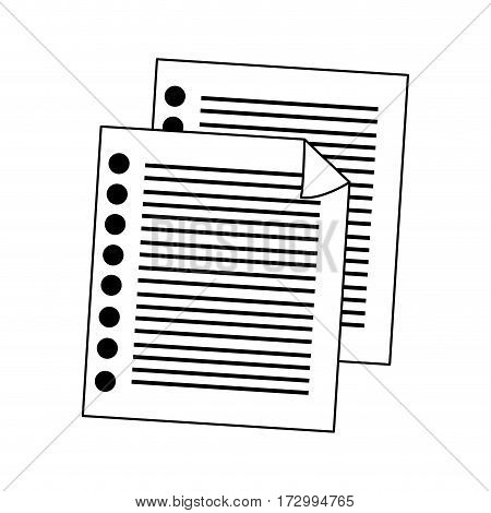 notebook pages icon image vector illustration design