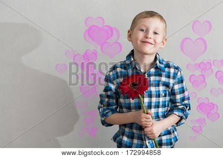 A Boy With A Flower