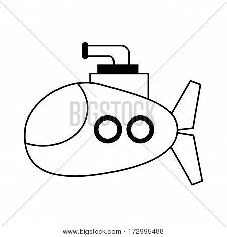 submarine cartoon icon image vector illustration design