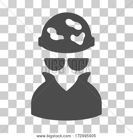 Spotted Spy vector pictogram. Illustration style is flat iconic gray symbol on a transparent background.