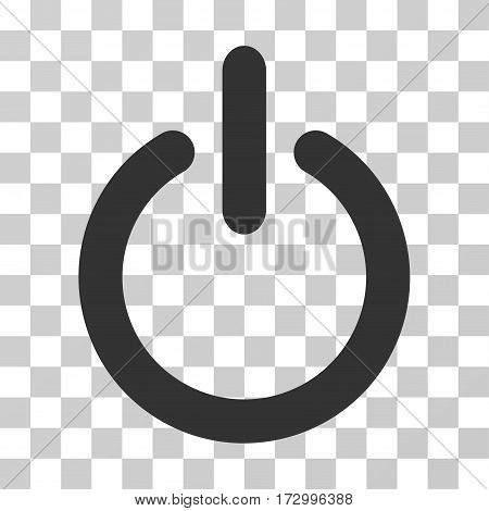 Turn Off vector icon. Illustration style is flat iconic gray symbol on a transparent background.