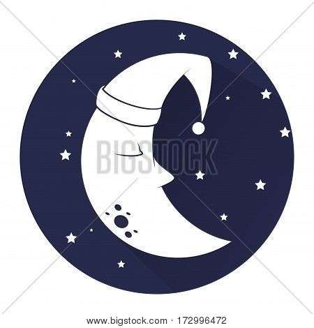 cute moon sleeping icon vector illustration design