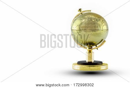 Golden Globe isolated di-cut on white background