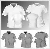 Vector. Men's t-shirt and polo shirt design template. poster
